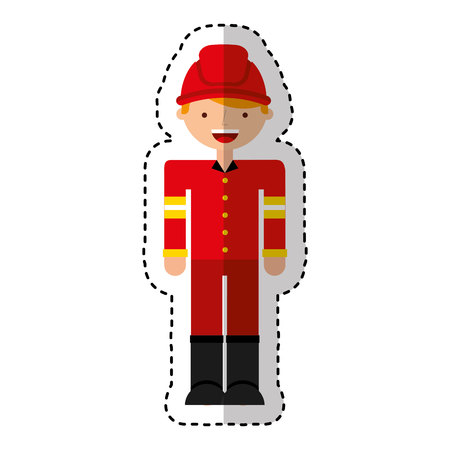 fireman avatar character icon vector illustration design Фото со стока - 119696206