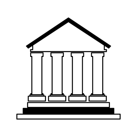 building roman columns icon vector illustration design