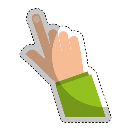 hand human index icon vector illustration design Banque d'images - 124202640