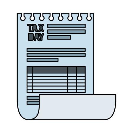 tax documents paper icon vector illustartion design Foto de archivo - 124202715