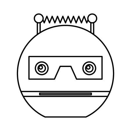 electric robot avatar character vector illustration design Foto de archivo - 124202721