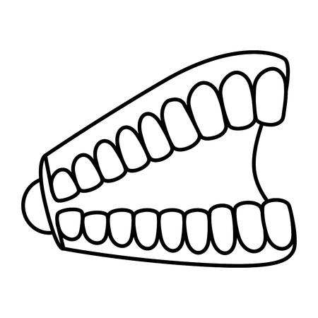 Blague dents fous jour icône vector illustration design