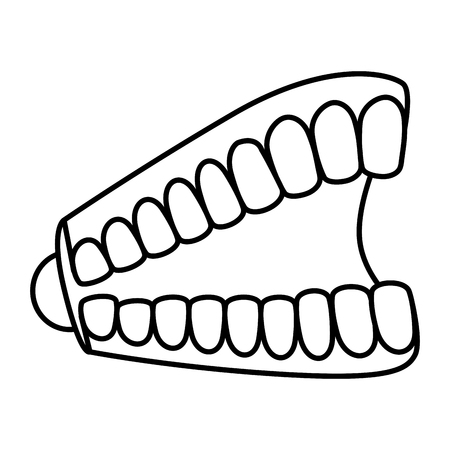joke teeth fools day icon vector illustration design