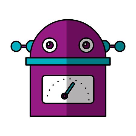 electric robot avatar character vector illustration design Foto de archivo - 124202788