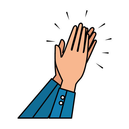 hands human applauding icon vector illustration design Banco de Imagens - 124202825