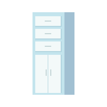 wooden shelving isolated icon vector illustration design Illustration