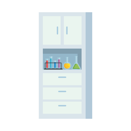 laboratory shelving isolated icon vector illustration design Banque d'images - 124202990