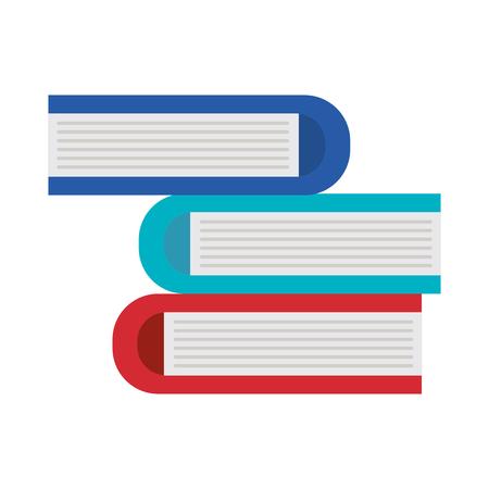 pile test books icon vector illustration design Stock Illustratie