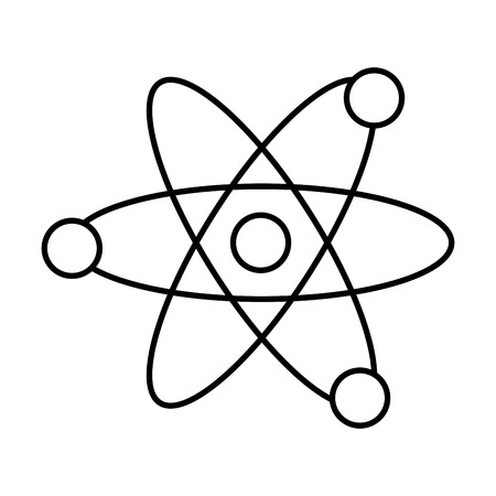 Ikonenvektor-Illustrationsdesign des Atoms Molekül lokalisiertes
