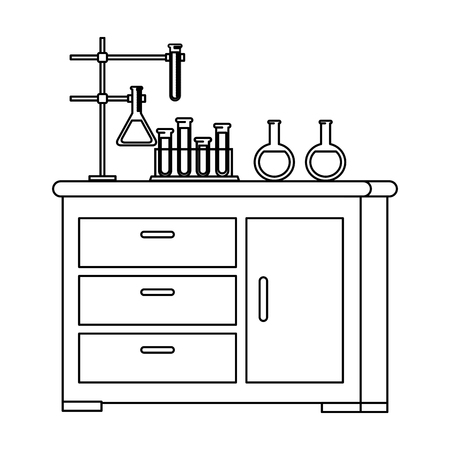 laboratory drawer isolated icon vector illustration design Banque d'images - 124203042