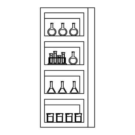 laboratory shelving isolated icon vector illustration design
