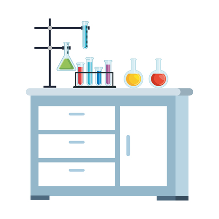 laboratory drawer isolated icon vector illustration design Banque d'images - 124203081