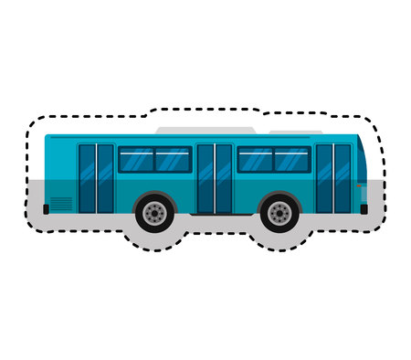 bus transport public icon vector illustration design