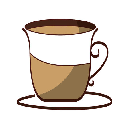 coffee cup drink isolated icon vector illustration design Illustration