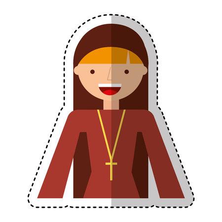 religious nun avatar character vector illustration design Foto de archivo - 119703840