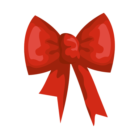 ribbon bow decorative icon vector illustration design Иллюстрация