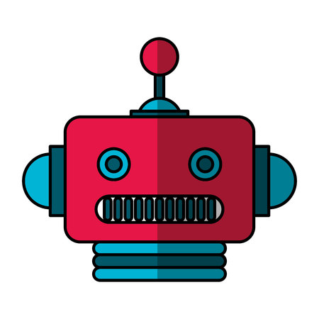 electric robot avatar character vector illustration design Foto de archivo - 124203630