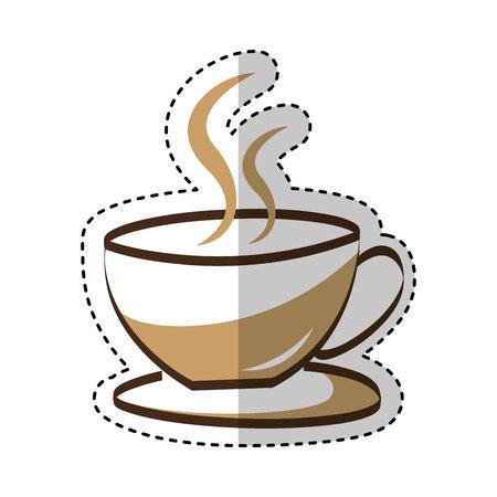 coffee cup drink isolated icon vector illustration design Illusztráció