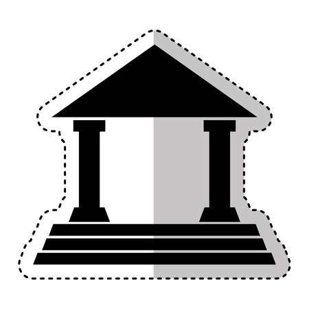building roman columns icon vector illustration design Stockfoto - 124203654