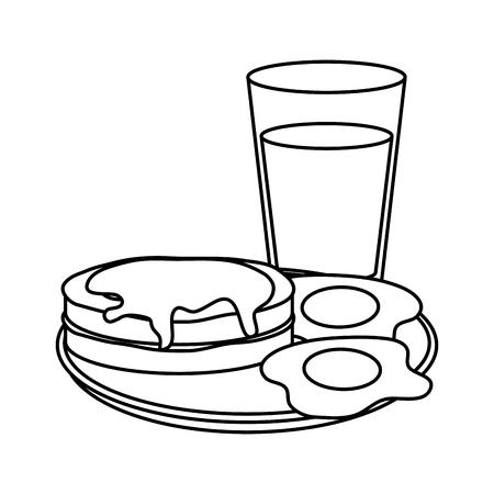 delicious breakfast menu icons vector illustration design Vectores
