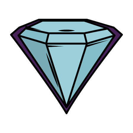 diamond luxury isolated icon vector illustration design Banque d'images - 124174421