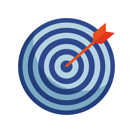 target with arrow icon vector illustration design Stock Vector - 119735516