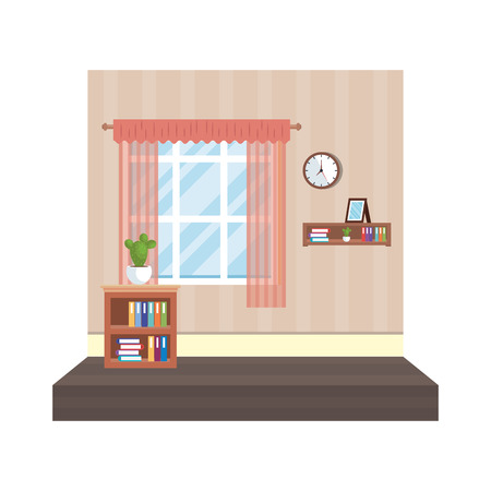 house place with window and houseplant vector illustration design Stock Vector - 119756794