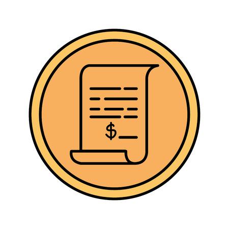 paper document isolated icon vector illustration design Foto de archivo - 124174486