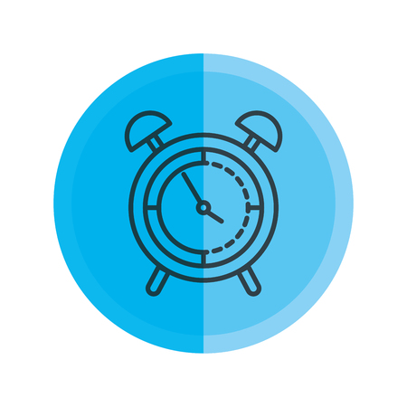 alarm clock isolated icon vector illustration design Banque d'images - 124175259