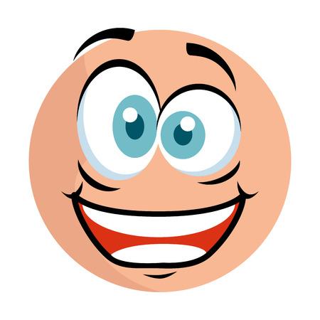 cute emoticon with crazy face vector illustration design