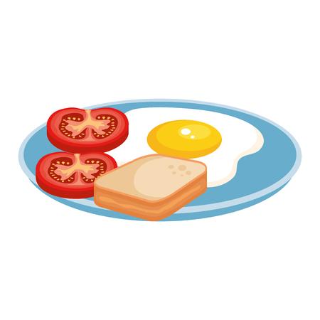 Deliciosos iconos de menú de desayuno, diseño de ilustraciones vectoriales Ilustración de vector