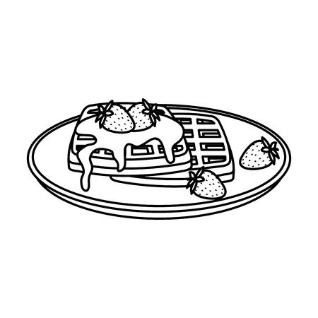 delicious breakfast menu icons vector illustration design Banco de Imagens - 124175411