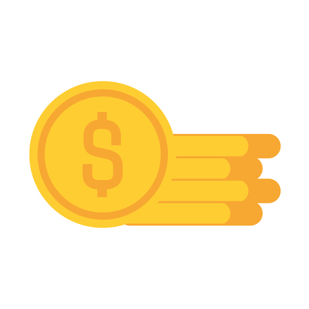 coins cash money icon vector illustration design