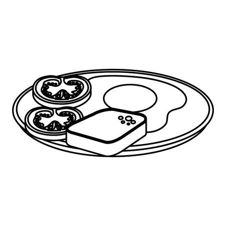 delicious breakfast menu icons vector illustration design Standard-Bild - 124175487