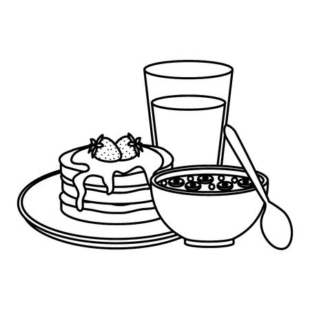 delicious breakfast menu icons vector illustration design