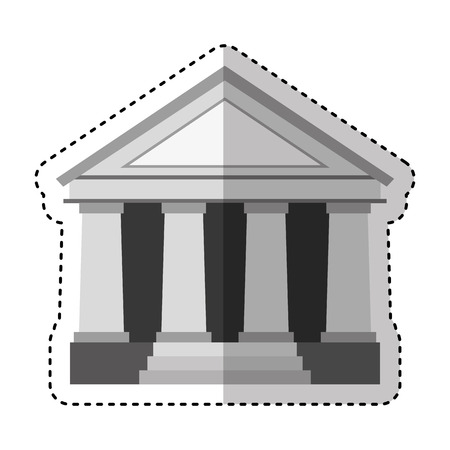 building roman columns icon vector illustration design Stockfoto - 121469988