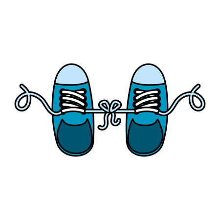 joke with shoes tied vector illustration design Illustration