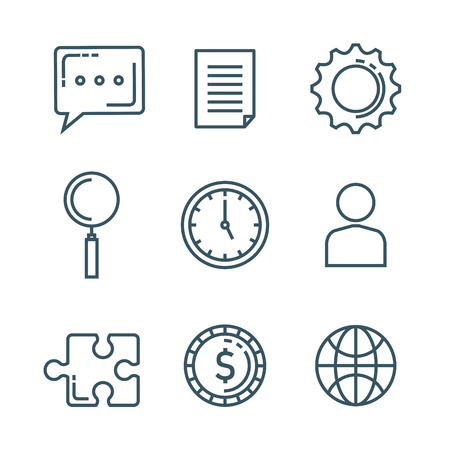 business marketing set icons vector illustration design
