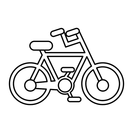 bicycle vehicle isolated icon vector illustration design