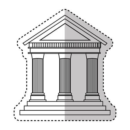 building roman columns icon vector illustration design Stockfoto - 119757297