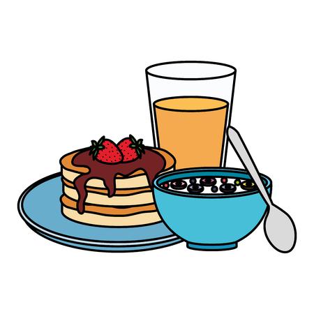 delicious breakfast menu icons vector illustration design Banque d'images - 124159958