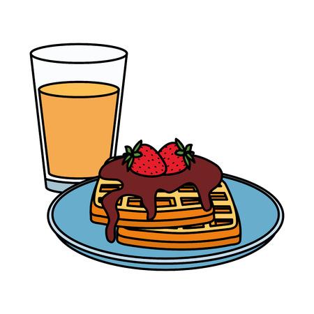 delicious breakfast menu icons vector illustration design Standard-Bild - 124160061