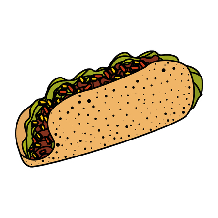 delicious burrito mexican food vector illustration design Imagens - 124160195
