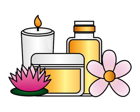 products care skin flower spa treatment therapy vector illustration 版權商用圖片 - 124160357