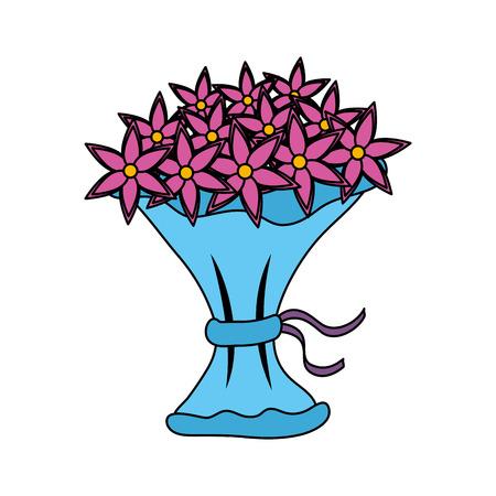 bouquet of flowers icon vector illustration design Ilustração