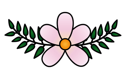frangipani flower leaves decoration on white background vector illustration 向量圖像