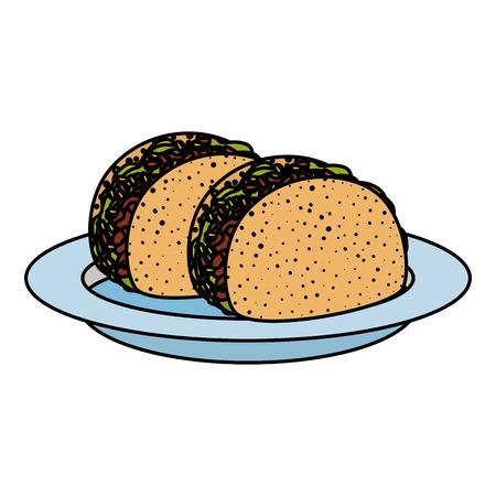 delicious tacos mexican food vector illustration design Illustration