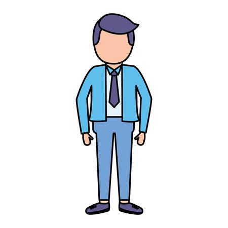 businessman with necktie on white background vector illustration vector illustration Illustration