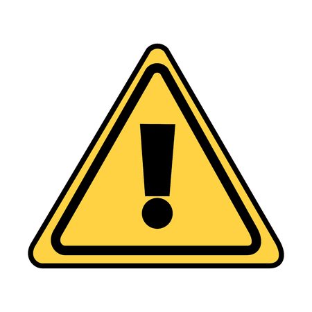warning sign icon on white background vector illustration