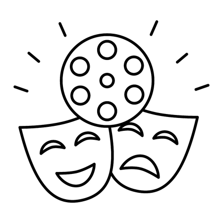 theater mask isolated icon vector illustration design Banque d'images - 119837549